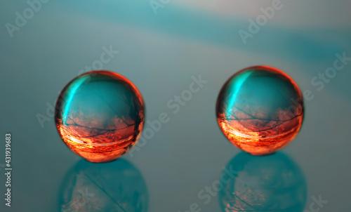 Krople 3D - wodne kulki abstrakcja