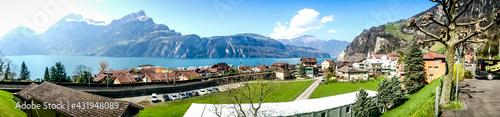 Fotografie, Obraz lake como italy panorama view
