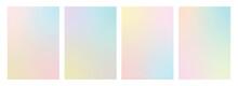 Round, Square, Diamond, Hexagon Shaped Pastel Gradient Set