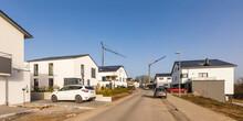Germany, Baden-Wurttemberg, Waiblingen, Driveway Of Modern Energy Efficient Suburb
