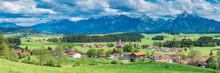 Germany, Bavaria, Fuessen, Alpine Landscape Seen From Eisenberg Ruin