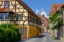 Germany, Bavaria, Herzogenaurach, Town Architecture With Old Town Hall