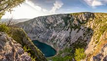 Croatia, Dalmatia, Imotski, Blue Lake In Valley