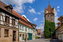 Germany, Bavaria, Herzogenaurach,Town Architecture With Fehnturm Tower