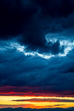 Dramatic Cloudy Sky During Sunset