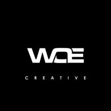 WOE Letter Initial Logo Design Template Vector Illustration