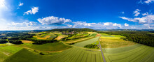 Germany, Bavaria, Eggolsheim, Aerial View Of Rural Landscape
