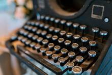 Close-up Of Old Typewriter At Wedding Banquet