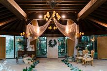 Wedding Banquet Decorated In Wedding Ceremony