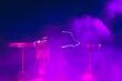 Leinwandbild Motiv lightnings of tesla coil in action