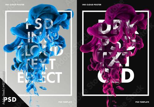 Ink Cloud Poster Layout - fototapety na wymiar
