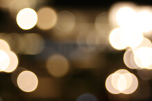 Blurred Rose Gold Bokeh Lights Background Texture For Holiday Party Celebrations
