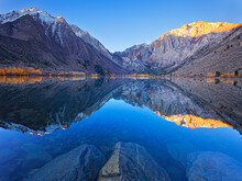 Dawn At Convict Lake In The Fall Before The Fisherman Get On The Lake