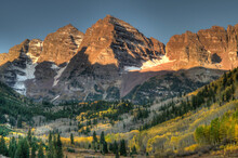 Sunrise At The Maroon-Bells In Colorado's Maroon Bells-Snowmass Wilderness Area
