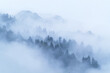 The Chimney Tops, a very popular 2-mile hike for visitors, is unveiled through foggy clouds in the Smoky Mountains.