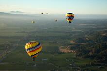 Hot Air Ballooning In Napa Valley California