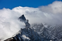 Dramatic Clouds And Tetons In Grand Teton National Park