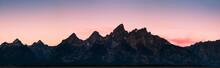 Mountain Range In Grand Teton, Wyoming.