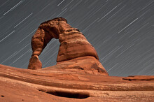 The Cosmos In Delicate Arch, Arches National Park, Utah