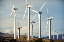 A Wind Farm, With Around 5,000 Wind Turbines, In Mojave Desert, California, USA