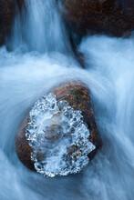 Ice Sculpture, Merced River, Yosemite National Park, CA