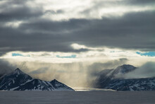 Afternoon Squall On The Branscomb Glacier Near Vinson Massif.