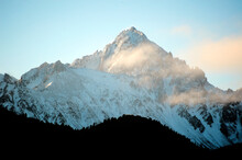 A Portrait Of A Snowy Summit In The Rocky Mountains Of Colorado.