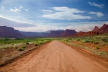 Road Through Mountain Valley, Moab, Utah