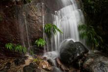 A Small Waterfall Within Pico Bonito National Park, Honduras