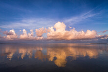 Clouds At Sunset On Florida Bay Within Everglades National Park, Florida.