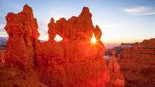 Sunburst At Sunset Point At Bryce Canyon, Utah