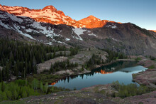 Sunrise Over Lake Blanche And Dromedary Peak. Located In Big Cottonwood Canyon, Outside Of Salt Lake City.