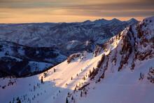 Winter Landscape Image Of Snowbird Ski & Summer Resort Near Salt Lake City, UT.