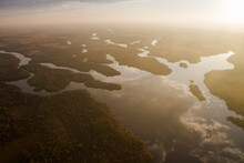 Broad River Photographed From A Helicopter In Everglades National Park, Florida.