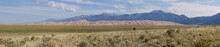 Panoramic View Of The Great Sand Dunes National Monument, Colorado.