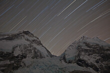 Star Trails Over Mount Everest, Nuptse & Khumbu Icefall. May 2012