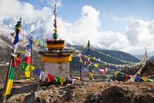 Prayer Flags In Khumbu Valley