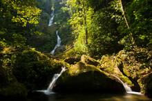 A Waterfall In Pico Bonito National Park, Honduras.