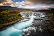 Bruarfoss. One Of Iceland's Lesser Known And Smaller Waterfalls.
