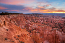 This Scene Was Captured On A Cold Spring Morning In Bryce Canyon National Park Just As The Sun Was Rising.