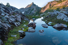 Gothic Peak As Seen From The Gothic Basin, North Cascades National Park, Washington State, USA