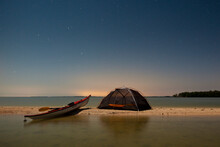 A Campsite On Rabbit Key In Everglades National Park And Ten Thousand Islands, Florida.