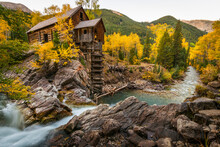 Crystal Mill Is One Of The Major Iconic Shots Of Colorado In Autumn.