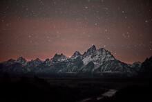 Grand Tetons National Park, Stars, And Snake River.