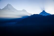 Annapurna And Annapurna South In The Morning Sun - Poon Hill - Anapurna Circuit - Ghorepani, Nepal