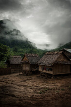 A Thunderstorm Approaches The Remote Village Of Mok Doo, Laos.