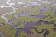 Mangrove Islands And Rivers Photographed From A Helicopter In Everglades National Park, Florida.