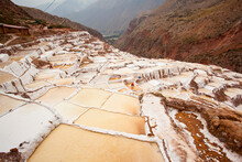 The Salinas Salt Pans Are Located In The Sacred Valley Near Cusco, Peru.