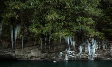 Ice And Rope-swing Along The Skykomish River, Washington.