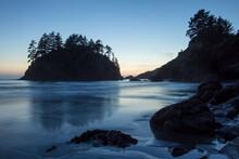 Twilight Along Coast, Pacific Ocean, Trinidad, Northern California